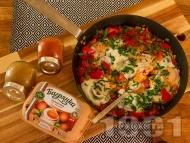 Рецепта Шакшука - миш маш със зелени и червени чушки